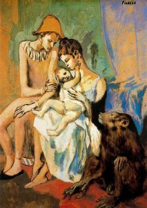 Семья акробата с обезьяной